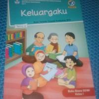 Buku SD Kelas 1 Tematik Kelas 1 SD Tema 4 (Keluargaku) Kurikulum