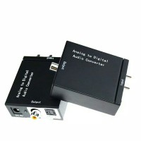 Adaptor Converter Audio Analog RCA to Digital Optic Toslink