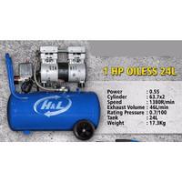 H&L Kompresor Oilless Silent 1HP - 24 Liter - Compressor 750watt