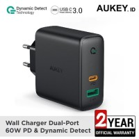 Aukey Wall Charger Dual Port 60W Power Delivery PD 3.0 + USB (PA-D3)