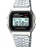 Jam Tangan digital Wanita Casio Retro A159-A stainless steel original