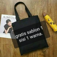 Totebag/Tote bag/semi kanvas/custom/plus sablon