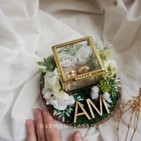 White Garden Petite / Kotak Cincin Rustic Box / Mahar Seserahan