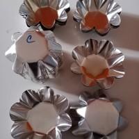 Cetakan kue pai pie sus (C) bentuk bunga 7 cm isi 20 pcs
