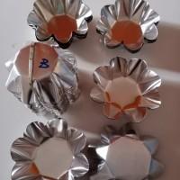 Cetakan kue pai pie sus (B) bentuk bunga 7,5 cm isi 20 pcs