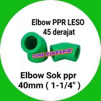 """elbow pipa / Elbow PPR LESO 45 derajat / keni Elbow 40mm atau 1-1/4"""""""