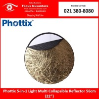 Phottix 5-in-1 Light Multi Collapsible Reflector 56cm (22)