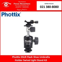Phottix DSLR Flash Shoe Umbrella Holder Swivel Light Stand A3