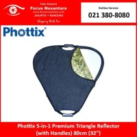 Phottix 5-in-1 Premium Triangle Reflector (with Handles) 80cm (32)