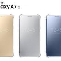 CLEAR VIEW COVER A7 2016 Flip Case ORIGINAL Samsung A710 A76 - GOLD