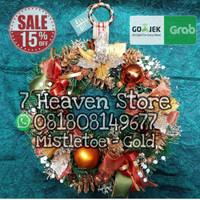 Krans Natal Wreath Dekorasi Hiasan Gantungan Pintu Natal - Mistletoe G