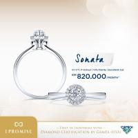 Sonata I Promise - Diamond Ring - Adelle Jewellery - White Gold, 5-15