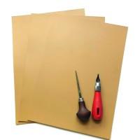 Karet Lino, Karet Cukil, Cukil Karet, Linocut, Linoleum ukuran A3