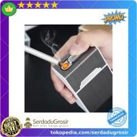Korek Api Elektrik USB Pyrotechnic dengan Kotak Isi 20 Slot - YJ110