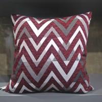 Sarung bantal sofa / sarung bantal kursi zig zag merah putih