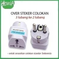 Over Steker Adaptor Kaki 3 ke 2 Travel Adapter Universal
