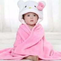 Selimut carter bayi topi Karakter lucu super lembut