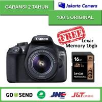 Canon EOS 1300D Kit 18-55mm IS II - 18 MP + Memory Sony 8 gb