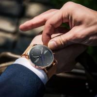 Jam tangan Pria Original GUANQIN ROSEGOLD Edition terbaru - Gold