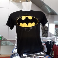 kaos pria bathman superman 100% cotton