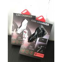 Quick Charging QC 3.0 USB Port Smart Charger Hp Adaptor Mobil Fast PD - Putih