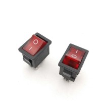 KCD1-104 Rocker Switch boat rocker power switch Red 4 pin 2 terminal