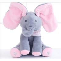 Boneka Gajah Peek A Boo Cilukba Boneka Elephant Boneka Musik -146 KSY
