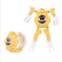 Jam Tangan Transformer/Deformasi Jam Anak Robot - Kuning