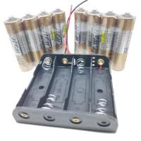 Tempat Batre AA 4 Slot Case Holder Box + Baterai Mr.Watt 8 pcs SNI