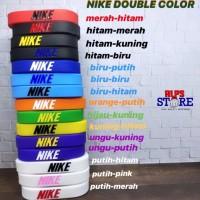 NIKE DOUBLE COLOR - gelang wristband karet rubber basket sport
