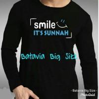 KAOS MUSLIM LENGAN PANJANG SMILE SUNNAH BIGSIZE S M L XL XXL 3XL 4XL