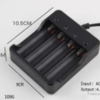 Charger Baterai 18650 4 Slot Cas Kabel Batre 4 Battery