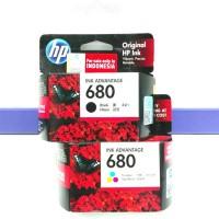 Tinta Printer ORIGINAL HP 680 Black & Colour 1set