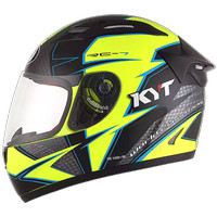 HELM FULLFACE KYT RC SEVEN 16 YELLOW FLUO BLACK SILVER