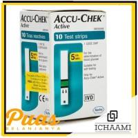 ACCU CHEK STRIP ACTIVE ISI 10 PC REFIL CHECK GLUCOSE GULA DARAH
