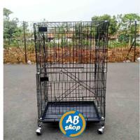 KHUSUS GOJEK/GRAB Kandang kucing tingkat 3 Ukuran 60x42x90