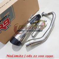 Knalpot Racing R9 H2 SS ORI Full System Free DB Killer PCX 150 Lokal