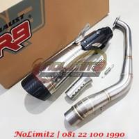 Knalpot Racing R9 H2 SS ORI Full System Free DB Killer Aerox 155 Lexi