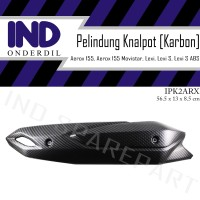 Cover Tutup-Pelindung-Tameng Knalpot Carbon-Karbon Aerox 155-Movistar