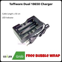 Charger 18650 Taffware / Dual Charger Battery 18650