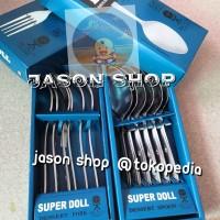 Sendok atau Garpu makan stainless Super Doll isi 6 pc