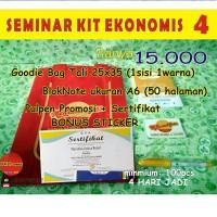 CUSTOM Seminar Kit Enonomis 4 (goodiebag+sertifikat+noteA6+pulpen)