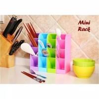 Mini rack/Rak 4 sekat untuk alat tulis,tempat sendok dll