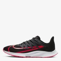 Sepatu Running Original Sepatu Nike Zoom Rival Fly - Black/Crimson
