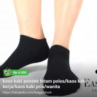 kaus kaki pendek hitam polos/kaos kaki kerja/kaos kaki pria/wanita