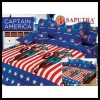 SUPER SALE Saputra Bed Cover Set King Captain America / Bedcover