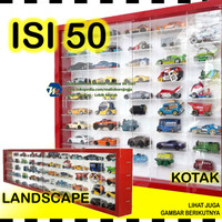 Rak Hot Wheels isi 50 skala 1:64 Hotwheels Hotweel Hot Wells Diecast - Merah