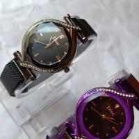 Jam tangan wanita magnet Diora oval ( Love )