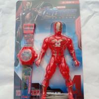 Jam tangan anak laser proyektor bonus robot besar karakter
