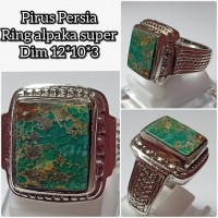 cincin batu akik pirus persia asli natural 12103